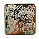 Nicole Diary Full Flower Design Nail Art Stamp Template Image Plate