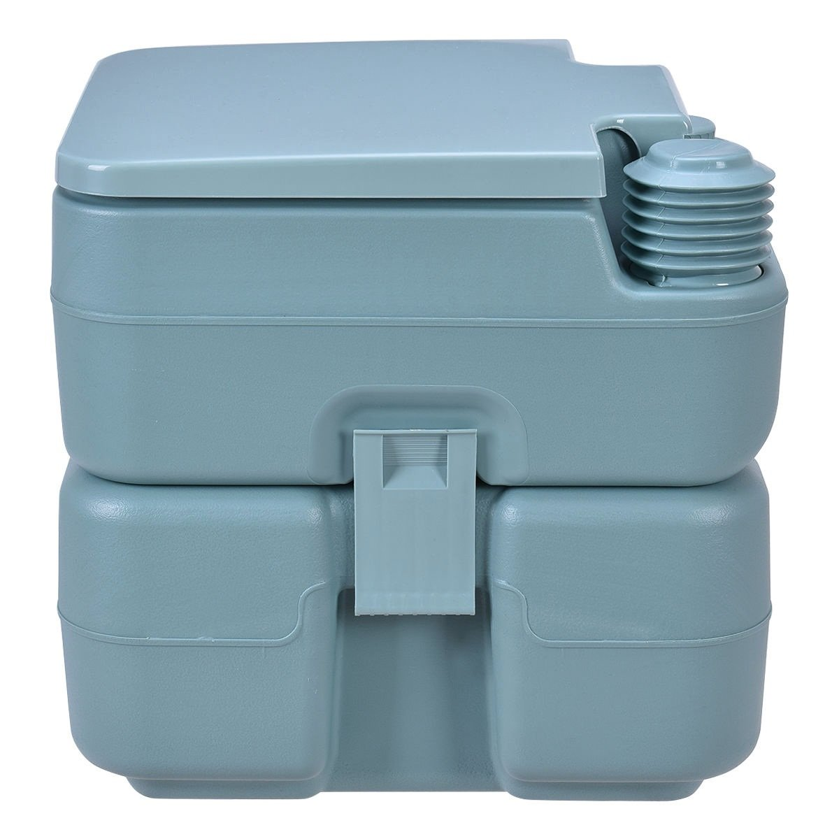 20L Easy Carry & Clean Portable Travel Flush Toilet Greenish Gray Potty by FDInspiration (Image #3)