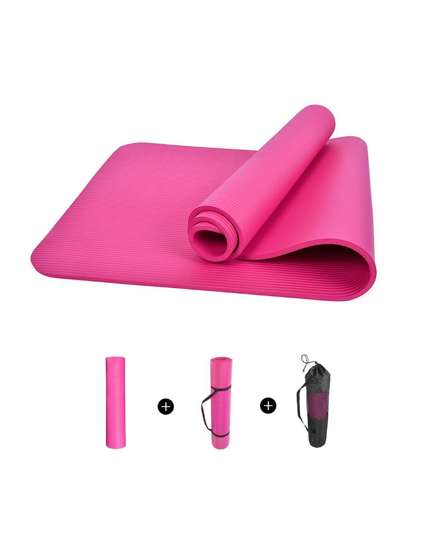 Bleu a EU40 Couverture de Yoga Professionnelle, Tapis d'exercice antidérapant 15mm