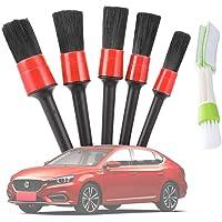 Yimorex Set van 6 penselen voor de auto, perfect voor het reinigen van personenauto's, vrachtwagens, gedetailleerde…