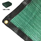 Didaoffle 70% Sunblock Shade Net Green UV Resistant, Premium Garden Shade Mesh Tarp, Top Shade Cloth Quality Panel for Flowers, Plants, Patio Lawn, Customized Sizes Available (12ft x 10ft) For Sale