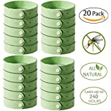 Petsvv Mosquito Repellent Bracelet, 20pcs Insect & Bug Repellent Bands,100% Natural,Keeps Pests & Bugs Away From Kids, Adults, Adjustable Wristbands for Indoor and Outdoor