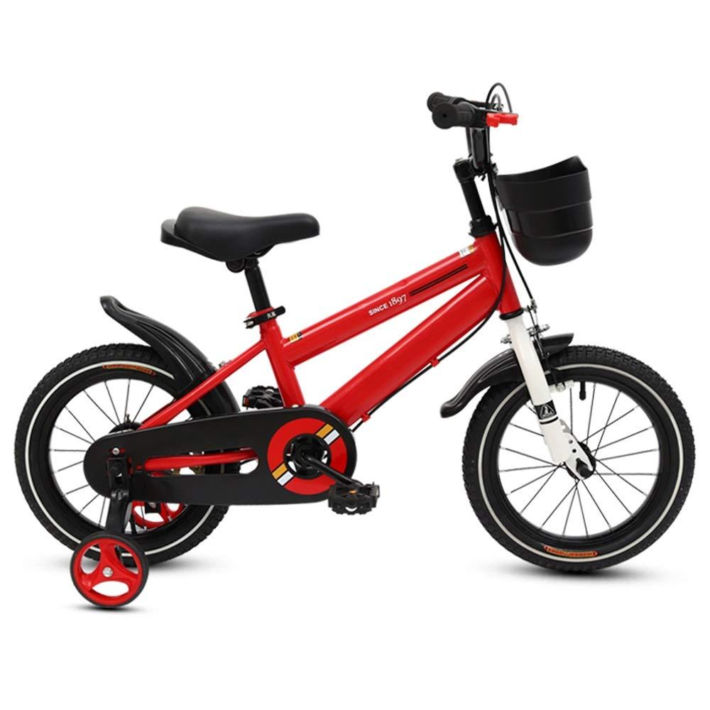 Biciclette per bambini Duo Freestyle Kid's Bike, Sedile Regolabile e Maniglia 12-14-16-18- Pollici in Pollici, 3 Colorei Disponibili (colore   Red, Dimensioni   14 inch)