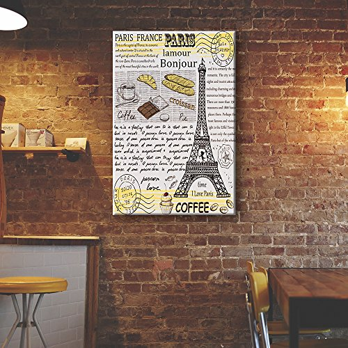 Vintage Style Coffee Art with Eiffel Tower