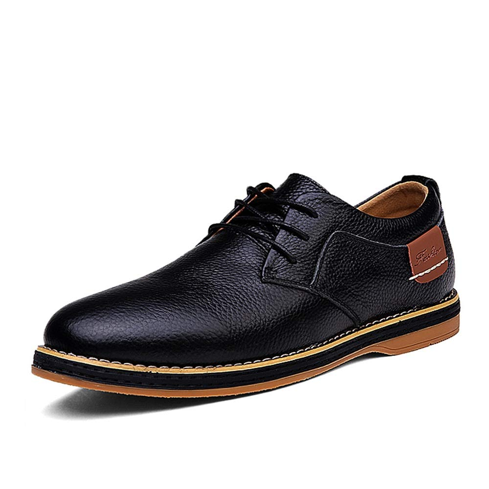 Black XHD-Men's shoes Men's Simple Fashion Oxford Casual Low Top Solid color Simple Velvet Fleece Lined Semi Formal shoes(Conventional Optional)