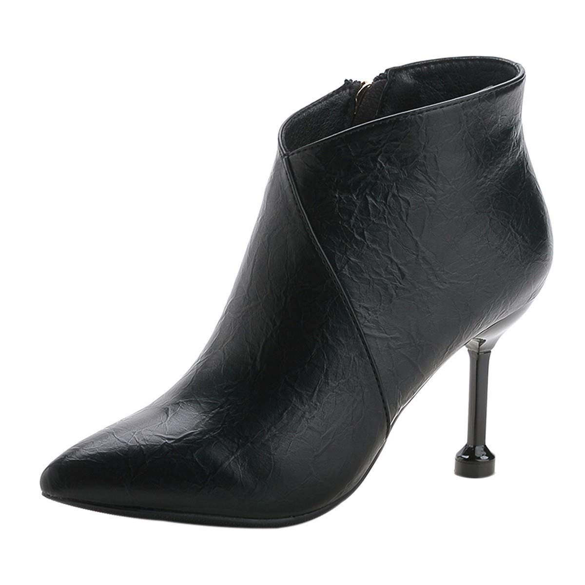 HBDLH Damenschuhe Komfortable Slim Bei 9Cm Heel Stiefel Spitze 100 100 100 - Sets Samt Martin Stiefel b2ba56