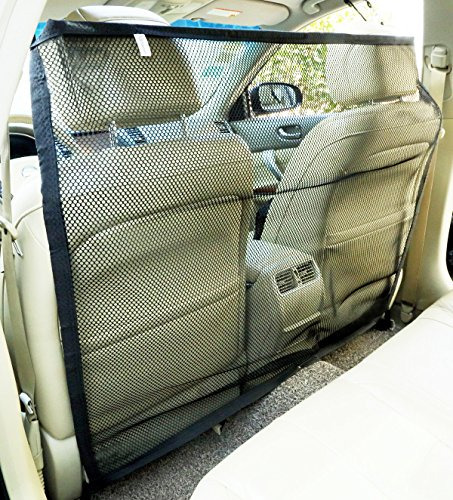 Vehicle Dog Safety Barrier (Zone Tech Pet Car Net Barrier  Large Universal Mesh Vehicle Pet Barrier)