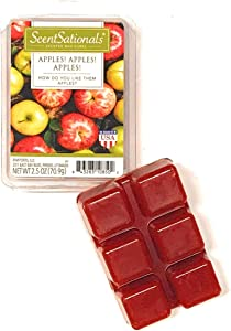 Scentsationals 2.5 oz Apples, Apples, Apples Scented Fragrant Wax Melts - 6 Scented Wax Cubes