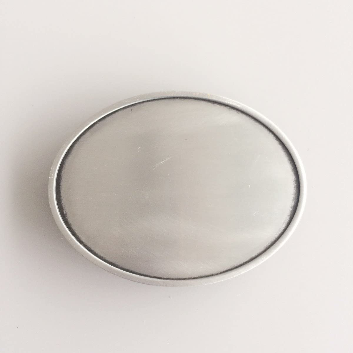 New Vintage Silver Plated Classic Oval Blank Custom Belt Buckle also Stock in US