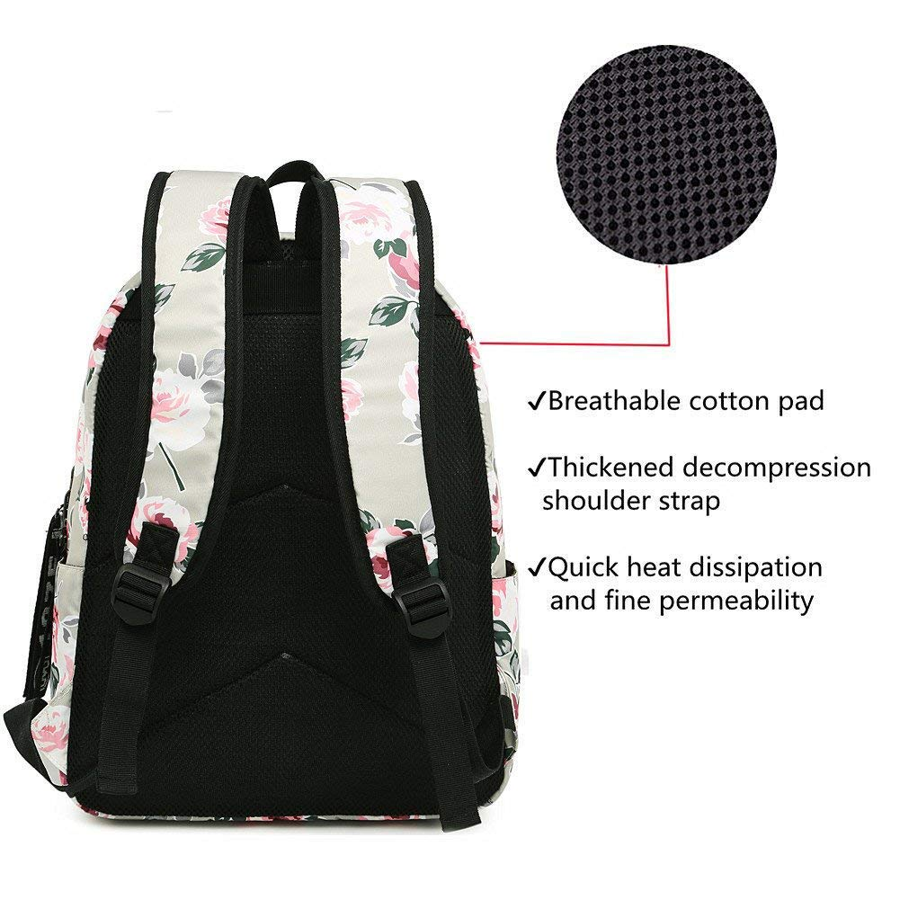 Amazon.com: XHHWZB Casual Waterproof Laptop Backpack Travel Daypack School Bag Bookbags for Teen Girls and Women - Black Peony: Office Products