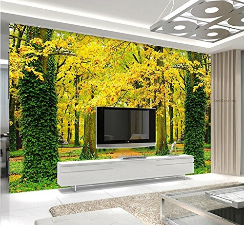 Avenue Toilet Paper - LWCX Custom 3D Photo Wallpaper The Golden Avenue Background 3D Stereoscopic Wall Papers Home Decor Living Room Wall Mural Wallpaper 308X250CM
