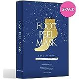 WonderFoot Exfoliating Foot Peel Mask - For Smooth Feet, Dry Dead Skin Treatment w/ Lactic Acid & Milk (PH3.6) - Moisturize,