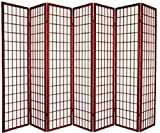 7 Panel Room Divider - Cherry