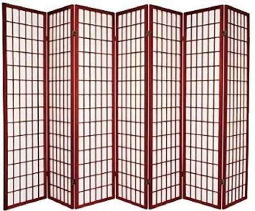 7 Panel Room Divider - Cherry by SQUARE FURNITURE