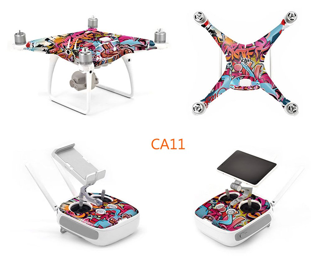 OKSTORE Kit de calcomanías de decoración para dron Phantom 4 Pro ...