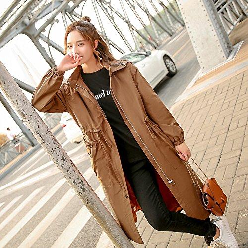Mrs Scoatwwh In Con Femminile Chau Temperamento giacca Cappotti Da Donna Femmina Giacca Giacche E Long A Caramello Autunno Vento X080rwq