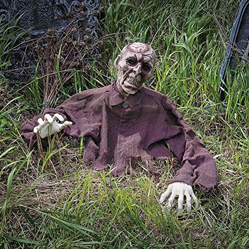 Fun Express Zombie Brain Breaker Ground Breaker - Halloween Yard Decorations
