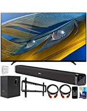 """$2298 » Sony XR65A80J 65"""" A80J 4K OLED Smart TV (2021) Bundle with Deco Gear Home Theatre Soundbar with Subwoofer, Wall Mount Accessory Kit, 6FT 4K HDMI 2.0 Cables and More"""