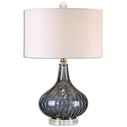 Amazon.com: Sutera agua lámpara de mesa de vidrio: Home ...