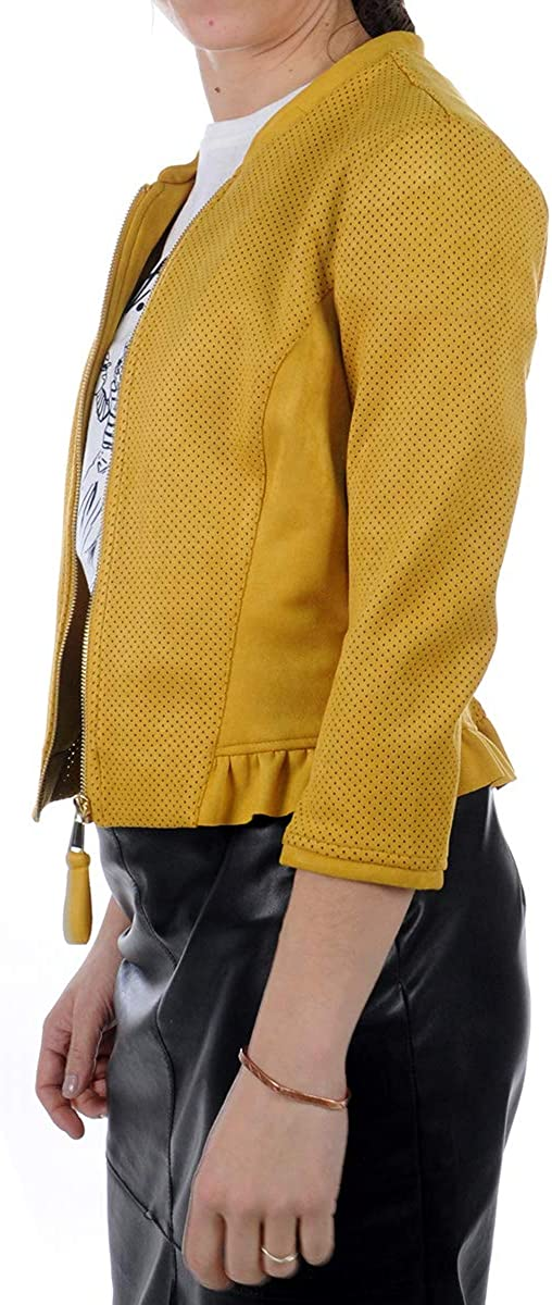 Silvian Heach Giacca Jacket OWENDO Giacca Donna Yellow PGP20555GB Yellow