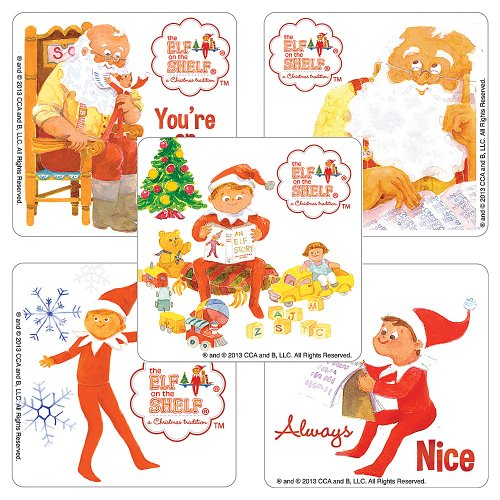 Elf on the Shelf Stickers - Party Supplies - 100 Per Pack
