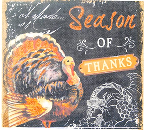 Thanksgiving Wall Decorations Harvest Turkey Burlap Engraved Home Frame Decor