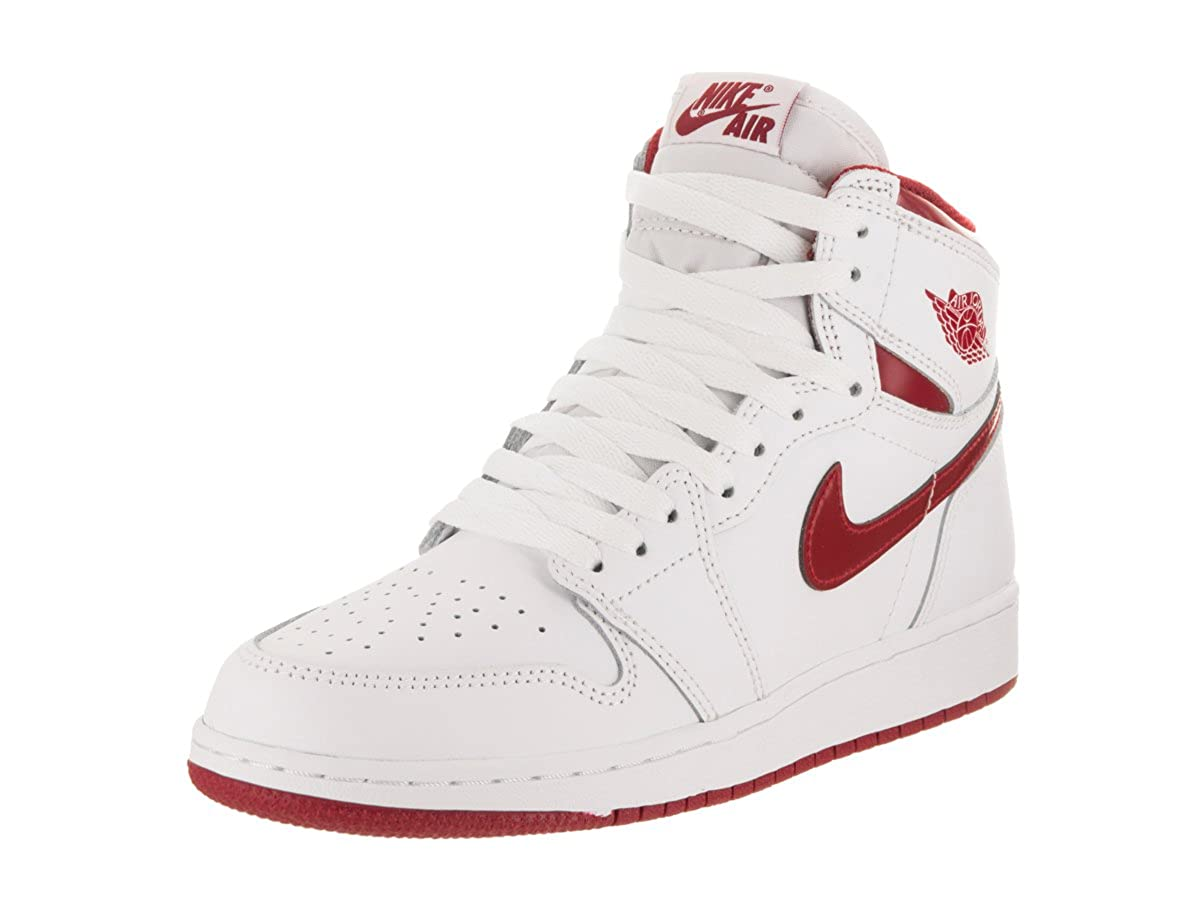White, varsity red Nike - AIR JORDAN 1 MID