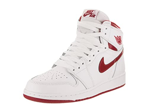 the best attitude 55b10 7887e Scarpe da basket Nike Kids Air 1 Retro High OG Bg Bianco   Varsity Rosso  6.5 Bambini US  Amazon.it  Scarpe e borse
