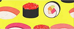 CSHENG Gift Wrapping Paper Roll Sushi Icons Set Asian Food for Wedding,Birthday, Shower, Congrats 58