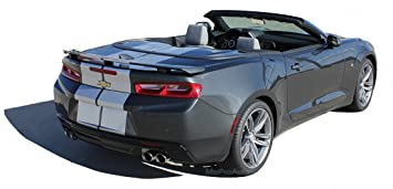 Amazon.com: TURBO RALLY CONVERTIBLE SS : 2016 2017 2018 Chevy Camaro Rally Hood Trunk Spoiler Racing Stripes Vinyl Graphic 3M Decal Kit (SS MODEL ONLY) ...