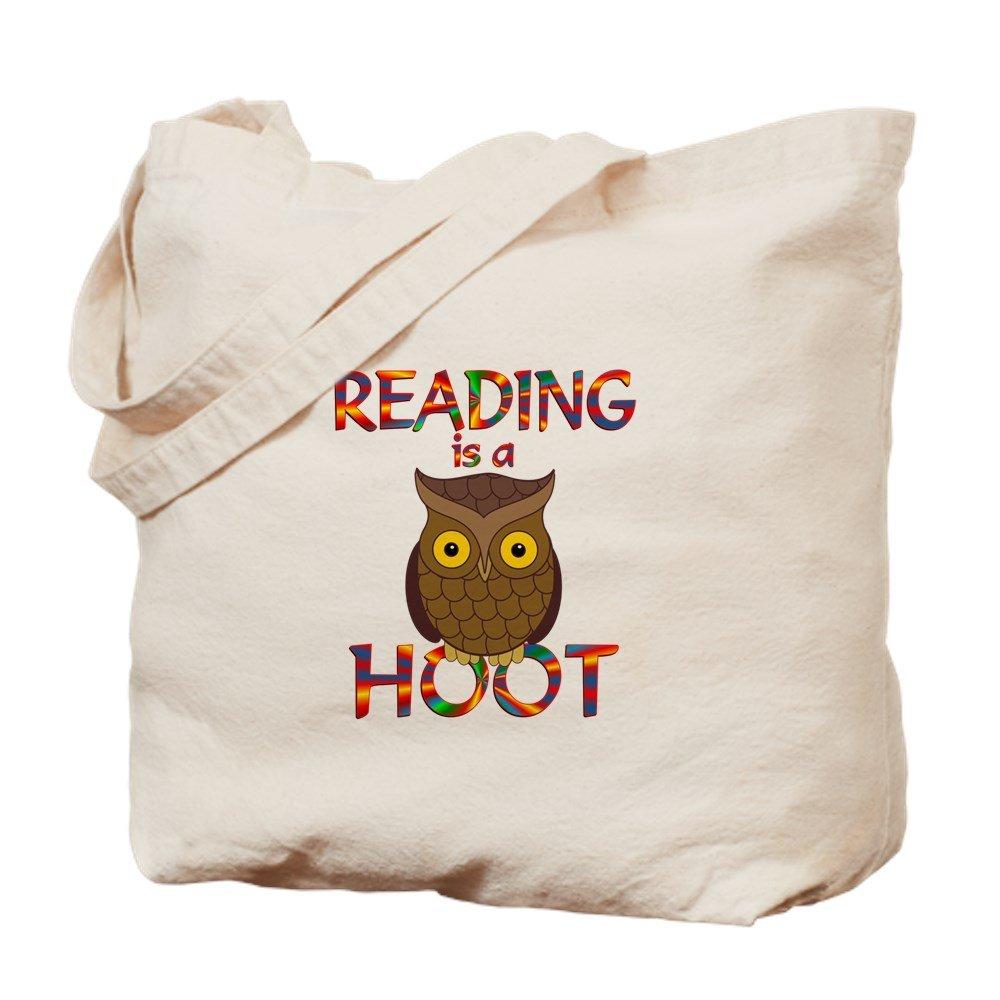 CafePress – Reading is a Hoot – ナチュラルキャンバストートバッグ、布ショッピングバッグ B01E986WZK