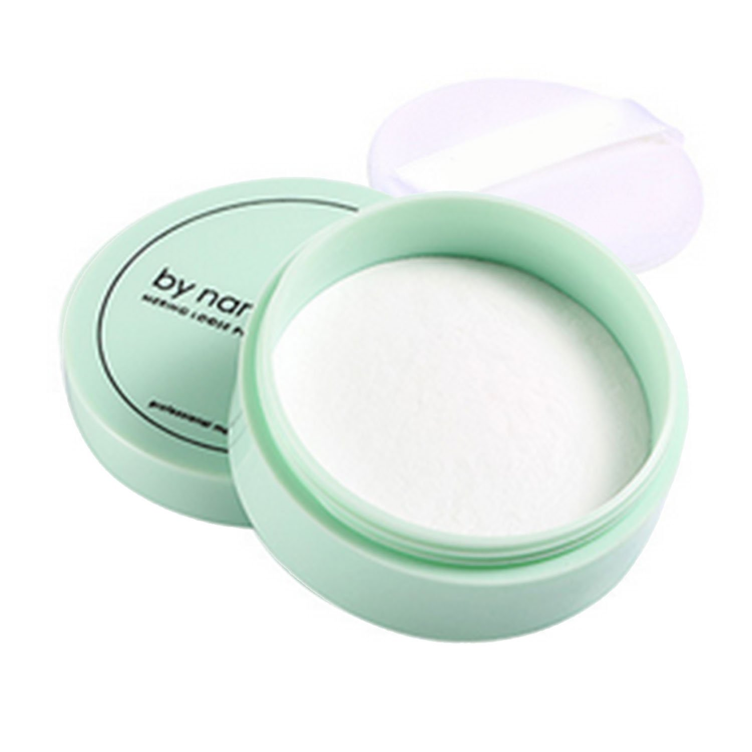 Elisona-Waterproof Cosmetic Makeup Loose Powder Foundation Finishing Powder Skin Finish Contour definition Setting Powder with Powder Puff for Multicultural women Color 2