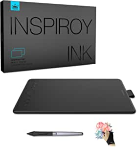 Huion Inspiroy Ink H320M Drawing Tablet, Dual-Purpose LCD Writing Tablet 8192 Pen Pressure Battery-Free Stylus Tilt Function Android Supported (Quartz Black)