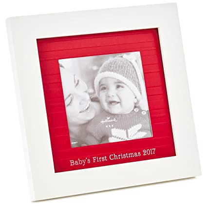 Amazon.com: Baby\'s First Christmas 2017 Picture Frame, 4x4 Picture ...