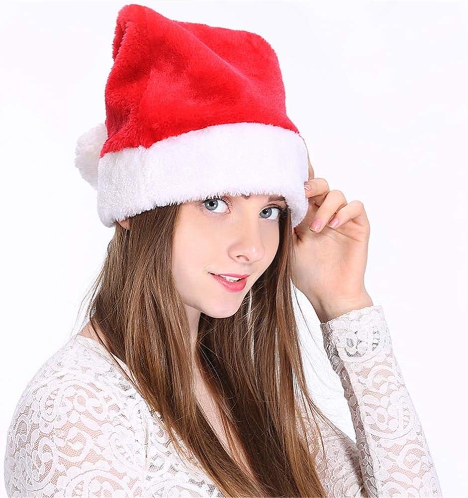 2 gorros de Papá Noel de felpa de Duoguan, para adultos y niños, adorno de Navidad: Amazon.es: Hogar