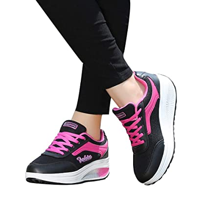 Amazon.com: Inkach Women Lace-up Mesh Sneakers | Increased Breathable Running Walking Light Sports Shoes: Sports & Outdoors