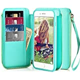 iPhone 6 Wallet Case, iPhone 6s Wallet Case, ZVE Apple iPhone 6/6s Case with Wallet Credit Card Slot Holder Zipper Strap Filo Handbag Carrying Wallet Case Cover for iPhone 6s 4.7 inch, Blue