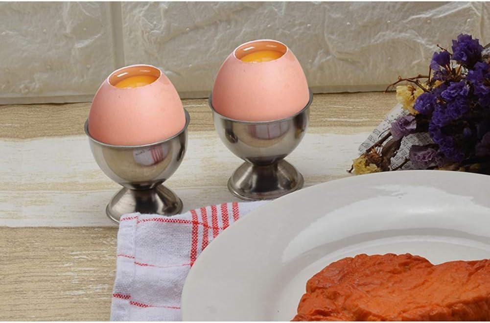4PCS//Set Asien Stainless Steel Egg Cups Set Egg Tray for Hard and Soft Boiled Eggs Egg Holder for kitchen