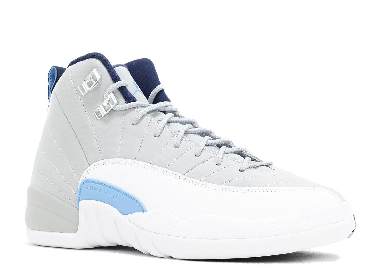 los angeles 05ef1 209e4 Amazon.com   NIKE Air Jordan 12 XII Retro (GS) University Blue - Wolf Grey  - White - Midnight Navy US 4y   Basketball
