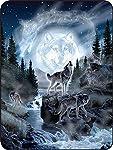 """Regal Comfort Moon Wolf Throw Blanket 45"""" x 60"""""""