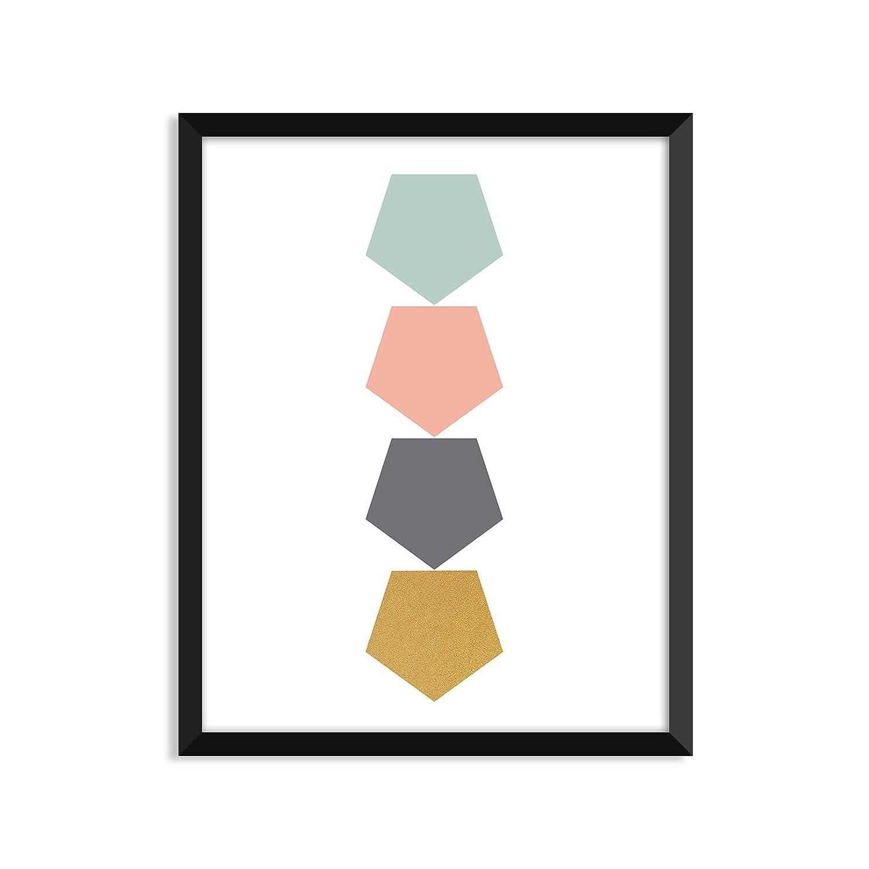 Amazon.com: polígonos múltiples, Cartel, decoración del ...