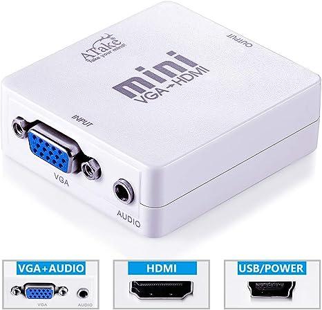 Digital Scaler - Convertidor VGA a HDMI 1080P para HDTV proyector Monitor PS3 computadora portátil PC a TV: Amazon.es: Electrónica