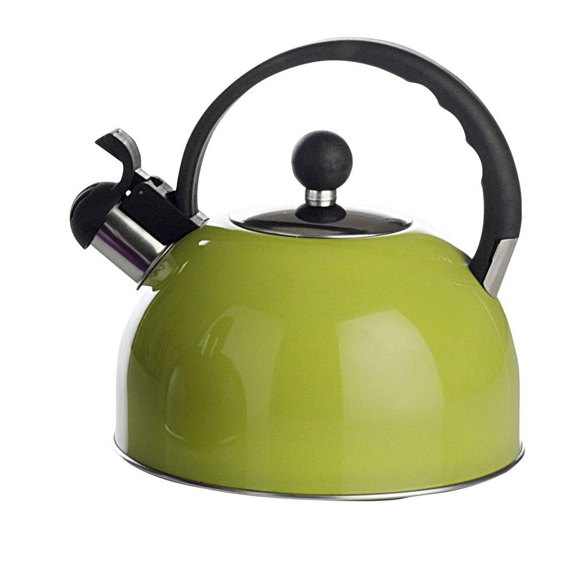 Axentia 291553 - Hervidor de agua con silbato (2,5 litros, acero), surtido: color violeta/verde: Amazon.es: Hogar