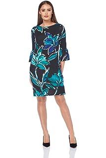 7a0df0ac915a Roman Originals Women s Floral Print Wooly Dress - Ladies A-Line Dresses