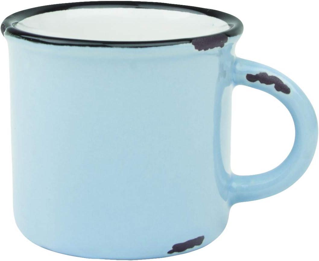 Canvas Home Tinware Espresso Mug, Cashmere Blue- Pack of 4