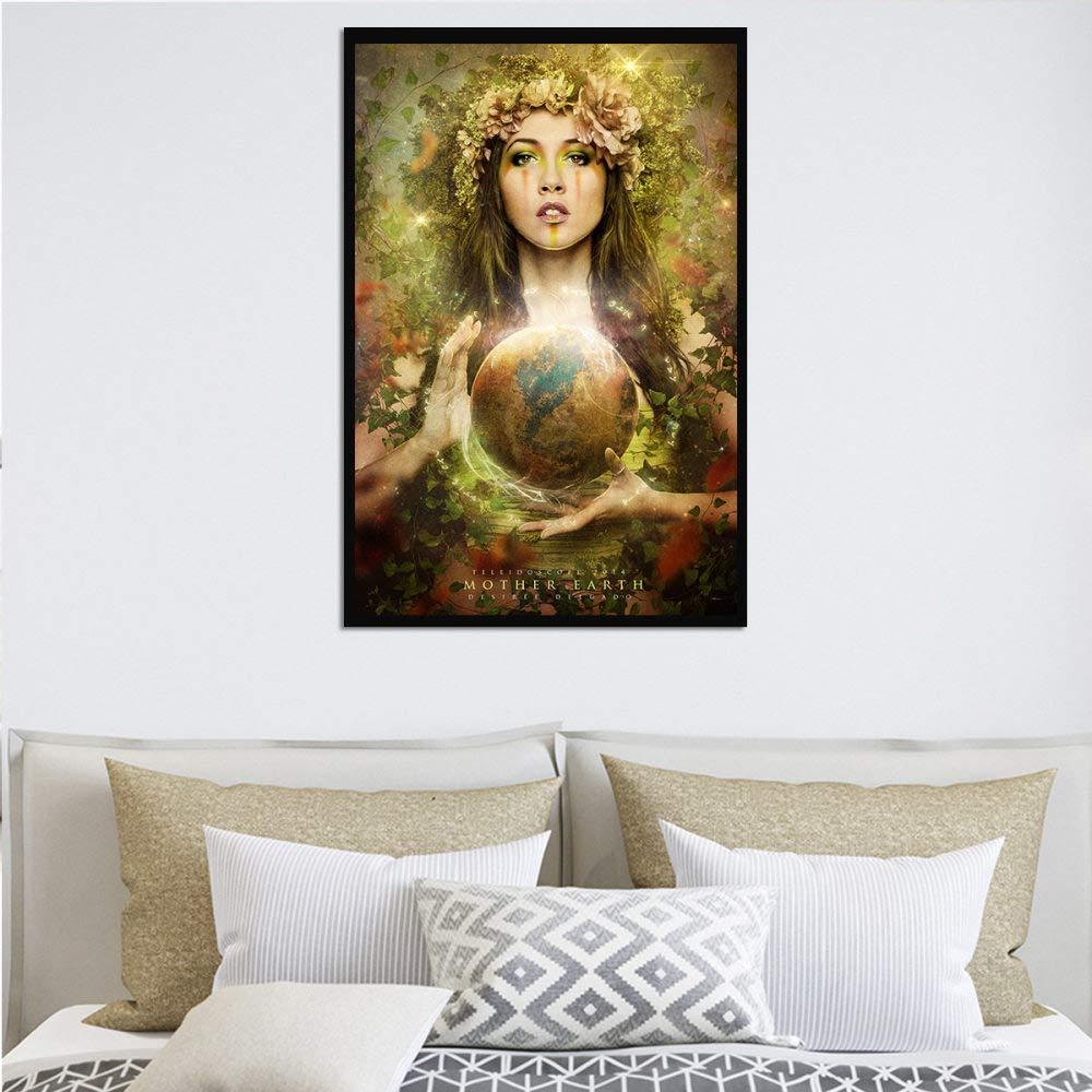 Earth Goddess Hd Print Abstract Art Poster Modern Creative Wall Art Canvas Print Inkjet Art Pop Picture For Living Room Bedroom Home Decor Pintura Decorativa Lienzo,Pintura Sobre Lienzo Wall Art