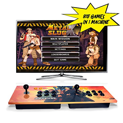 Pandoras Box Puzzle (ElementDigital Arcade Games Console Arcade Joystick Pandora's Box 4S Plus Double Players Arcade Console 815 Classic Arcade Games with HDMI VGA Output for TV PC)