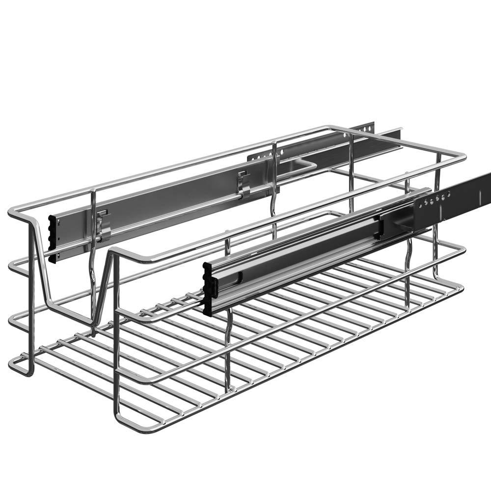 Tiroir t/élescopique Rangement Armoire Cuisine R/éfrig/érateur Largeur meuble 30 cm