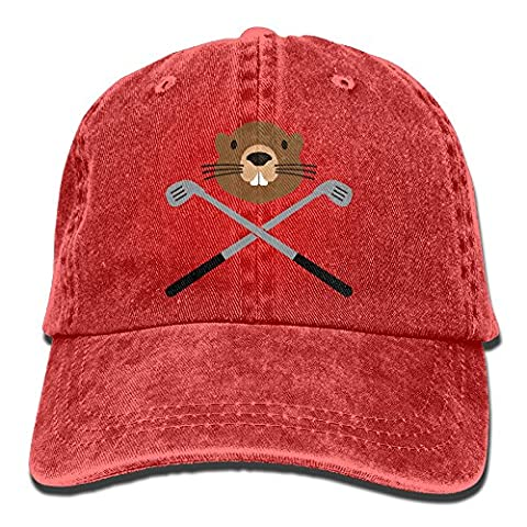 Suaop Gopher Unisex Vintage Washed Distressed Cotton Hat Leisure Baseball Cap Polo Style Red (Gopher Poison Machine)