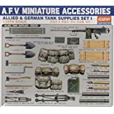 Academy WWII German and Allied Tank Equipment Set I Model Kit